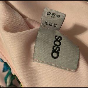 ASOS Dresses - Asos floral 3/4 sleeve scuba mini skater dress 6